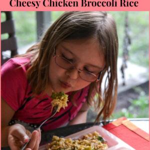 Easy Crock Pot Cheesy Chicken Broccoli Rice, Kid f