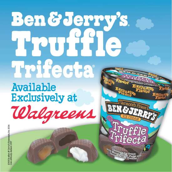 Ben & Jerry's Ice Cream, Ben & Jerry;'s on sale, Walgreens Only
