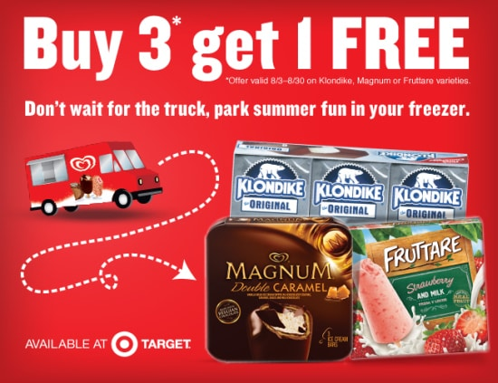 Buy 3 Get 1 Free at Target, Ice Cream coupons,