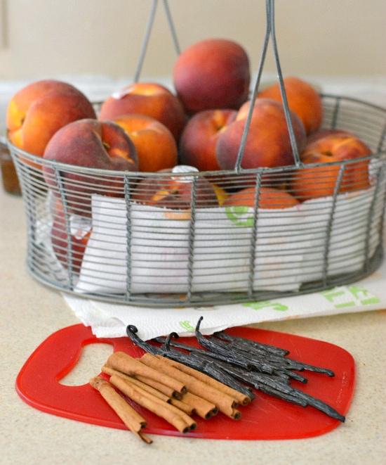 Washington State Peaches, Spice Vanilla Peach recipe, canning peaches, peach recipes