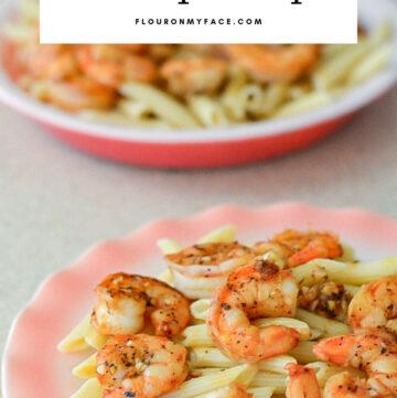 Serving of Blackened Shrimp Scampi