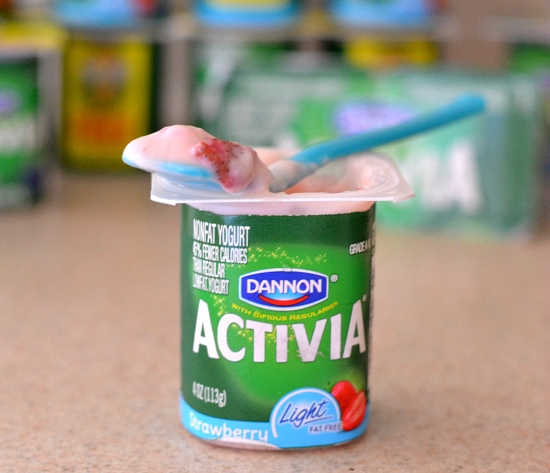 Activia Challenge, Activia Strawberry yogurt