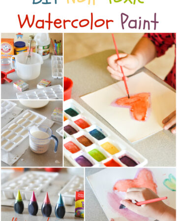Diy homemade Non-Toxic Water Color Paint via flouronmyface.com