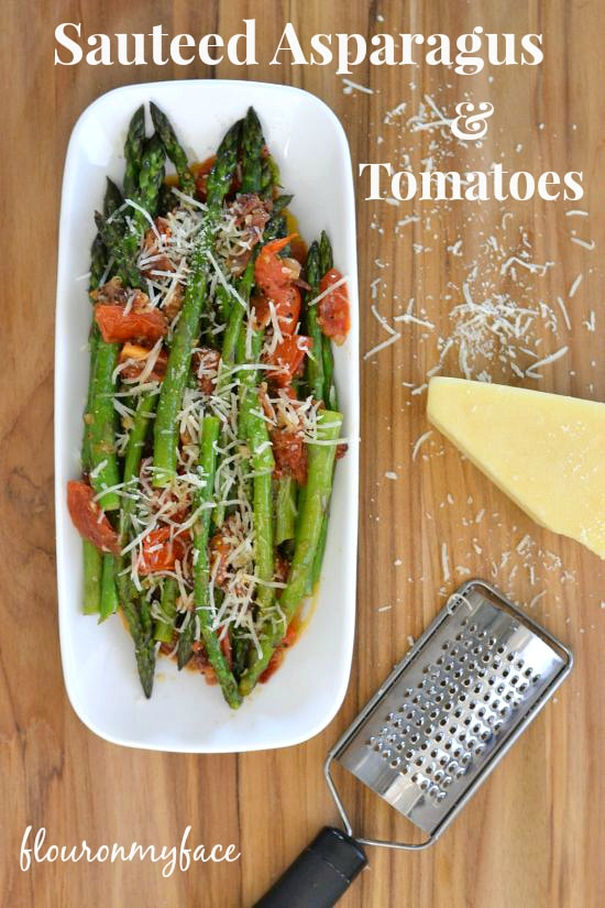 Sauteed Asparagus and tomatoes, olive oil, #pantryInsiders, healthy cooking,