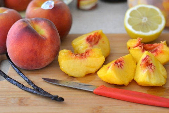 fresh peaches, peeled and sliced peaches, peach butter recipe