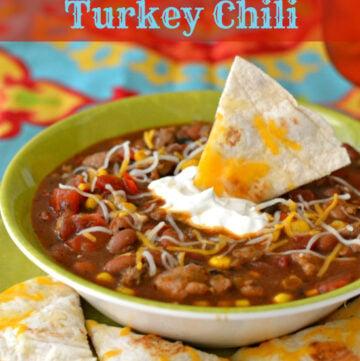 SouthWestern Turkey Chili, Southwestern chili, turkey chili, chili recipe