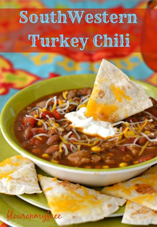 SouthWestern Turkey Chili, Southwestern chili, turkey chili, chili recipe