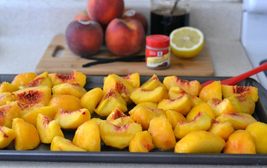 balsamic roasted peaches, balsamic roast d peach butter recipe, peach recipes