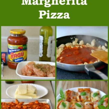 Chicken Margherita Pizza,