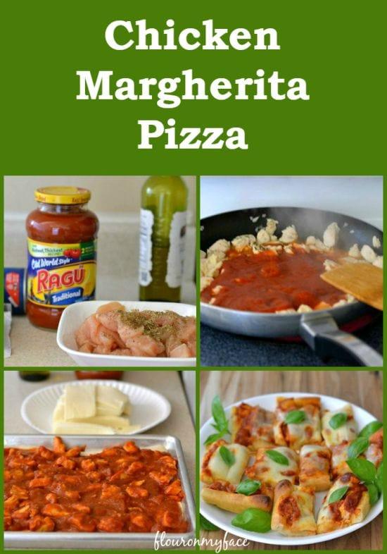 Chicken Margherita Pizza #NewTraDish