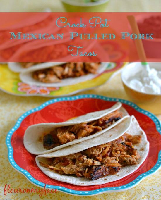 crock pot Mexican Pulled Pork Tacos, crock pot recipes, crock pot pulled pork, Smithfield, pork crock pot recipes