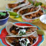 Crock Pot Mexican Pulled Pork Tacos #PutPorkontheMenu