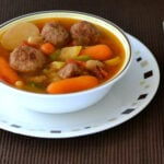 crock pot soup recipes, #SundaySupper, Turkey Meatball Soup