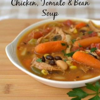 Chicken, Tomato and Bean Soup, Fall Soup recipes, homemade soup, chicken soup
