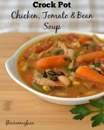 crock pot chicken tomato and bean soup