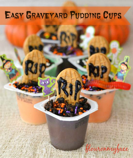 #shop, -#SnackPackMixins, Snack Pack Pudding, Halloween pudding treats,