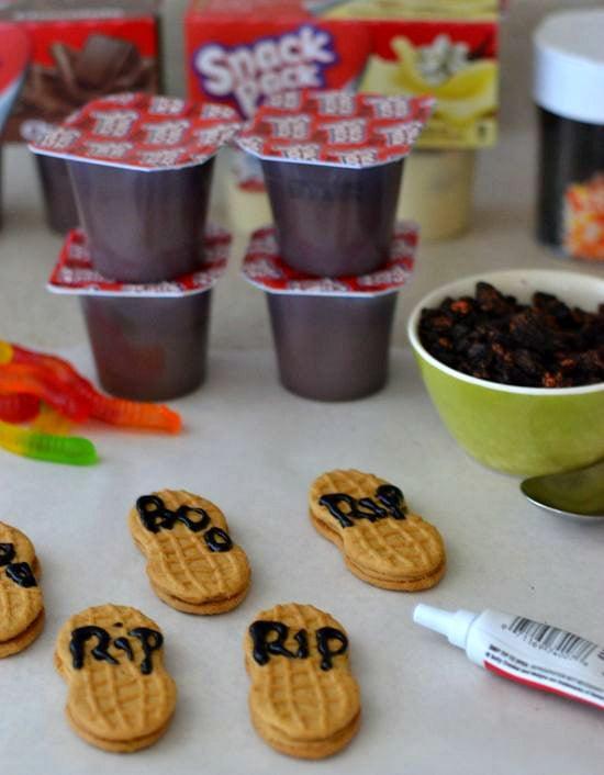 #shop, #SnackPackMixins, Halloween Treats, Graveyard Pudding cups