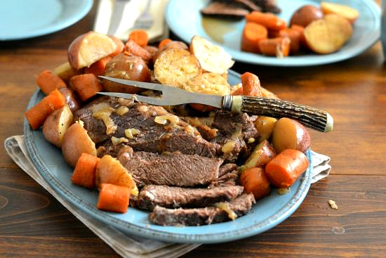 Slow Roasted, Pot Roast, Chuck Roast recipes, holiday meal planning, Farberware, family recipes
