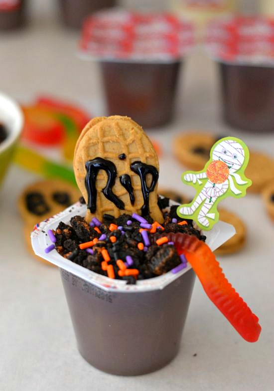 #shop, Graveyard Pudding cups, Halloween food ideas
