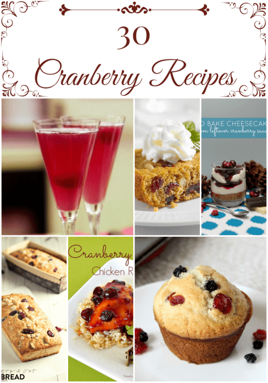 30 cranberry recipes, cranberries, recipes using cranberries, winter cranberry recipes