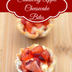 Cranberry Apple Cheesecake Bites, Holiday appetizers, cranberry recipes, apple recipes