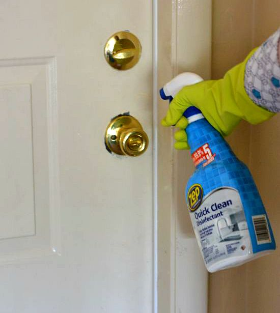 disinfect door knobs, Zep Disinfectant cleaner
