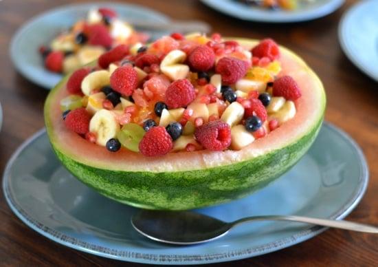 fresh fruit salad, Progressive Dinner, holiday menu planning, Pr