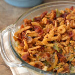 Holiday side dish recipe, green bean casserole,