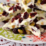 Homemade Christmas Bark, Pistachio Cranberry Gifts, gifts from the kitchenark, Homemade holiday g