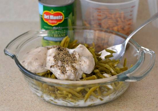 How to make a Green Bean Bacon Casserole via flouronmyface.com