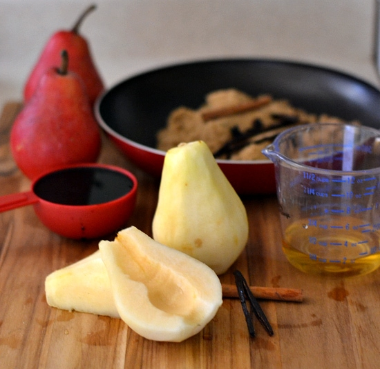 Balsamic Poached Pears, Farberware Cookware, #SeasonstoCelebrate