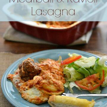 Meatball Ravioli Lasagna, #NewTraDish, Ragu sauce, Ragu recipes