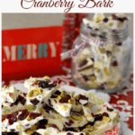 Pistachio Cranberry Bark