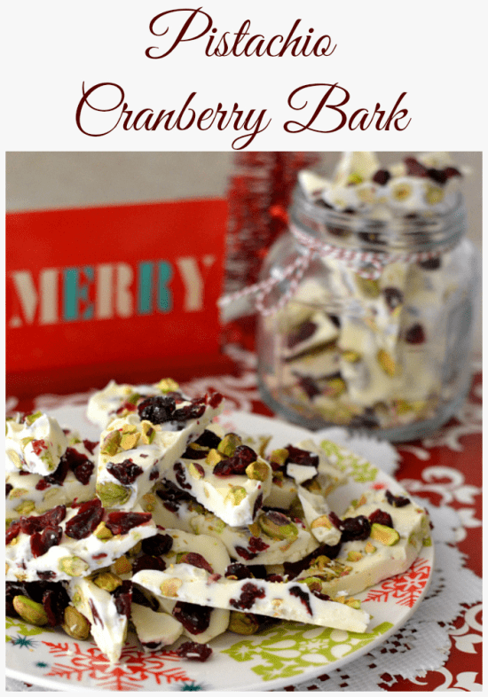 Cranberry Pistachio Bark Christmas Candy Recipe Easy Homemade Recipes Driedcranberry