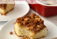 Apple Cinnamon Streusel Coffee Cake, baking with yeast, easy yeast recipes,