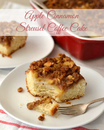 Apple Cinnamon Streusel Coffee Cake, baking with yeast, easy yeast recipes,
