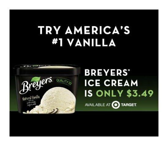 Breyers Ice Cream, Target Breyers Deals,