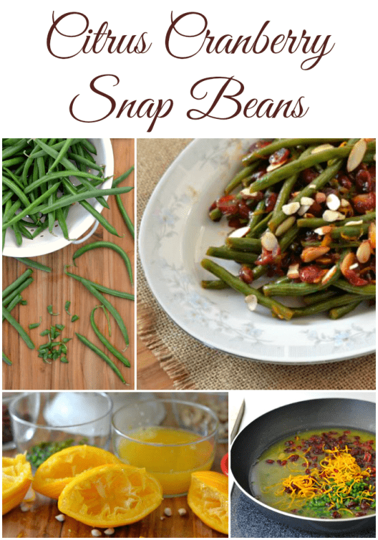 Fresh from Florida, Citrus Cranberry Green Beans, Cranberry Snap Beans, Cranberries, Florida produce, green bean recipe