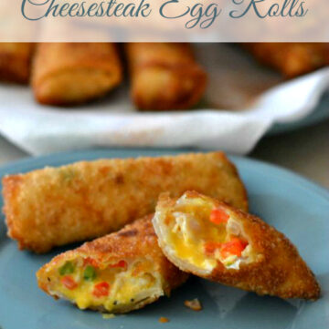 Chicken Cheesesteak Egg Rolls, David Venables cookbook, QVC cookbooks