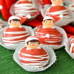 Elf On The Shelf recipes, Oreo Cookie Balls, Christmas Oreo recipes, OREO recipes, christmas recipes