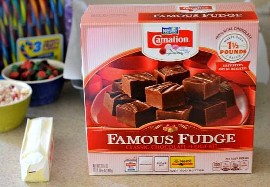 #shop, fudge kit, Carnation, Famous Fudge recip