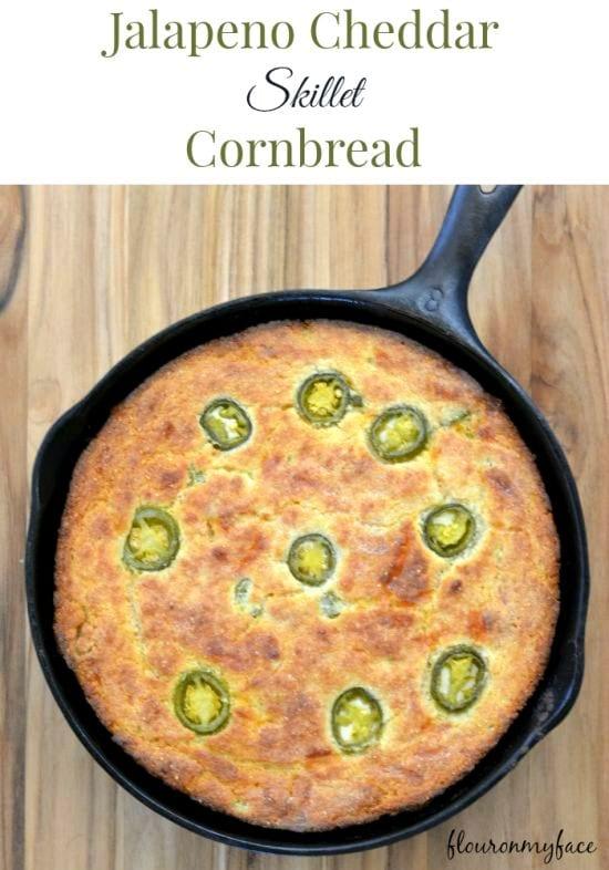 Jalapeno Cheddar Cornbread, savory recipes, #SweetSwaps
