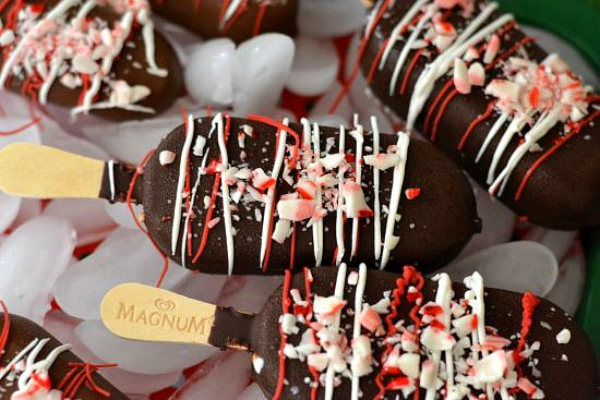 Magnum Holiday Treat Bars, Easy Holiday treats, Easy Holiday ice cream treats