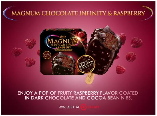 Magnum Chocolate Raspberry, Easy Holiday Treat idea