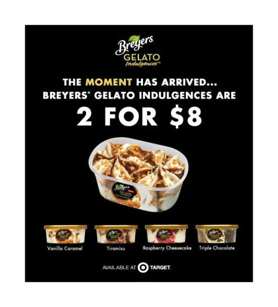 Target Deals, Target Breyers Ice Cream Deal, Holiday recipes