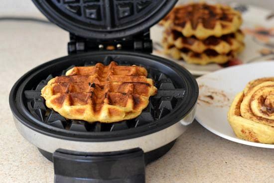 Apple Cinnamon Roll Waffles, #shop