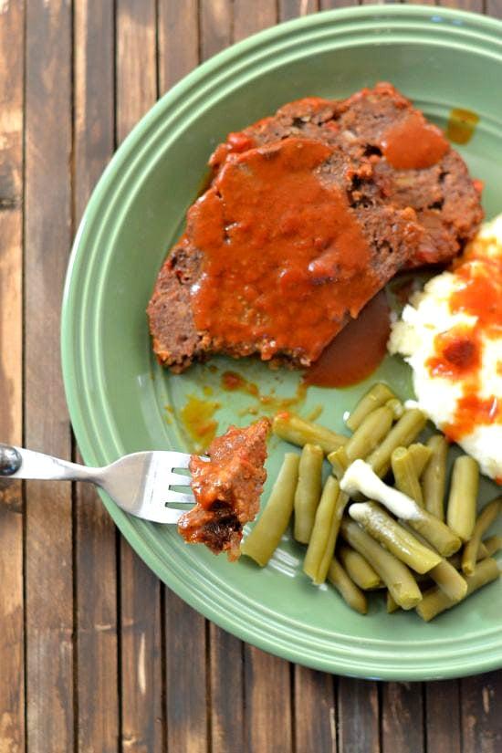 Crock Pot Mealoaf made with tomatoe soup just like Mom used to make