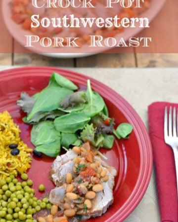Southwestern Pork Roast sliced on a plate.