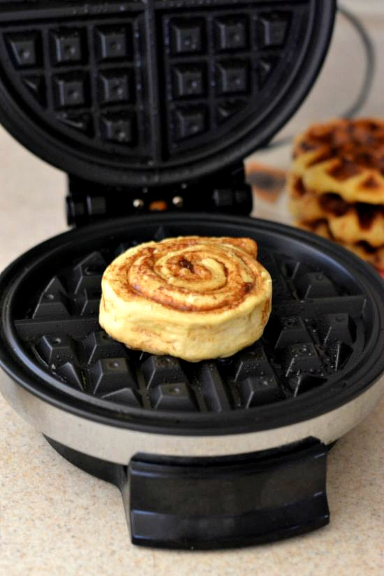 How to make Cinnamon Roll Waffles, #shop