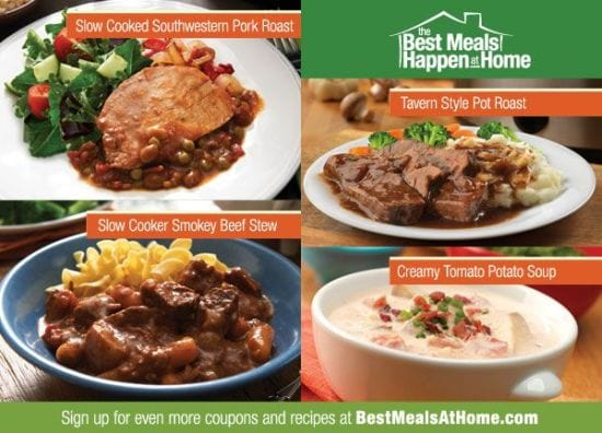 Get Coupons and Recipes at the Publix Best Meals Happen at Home website